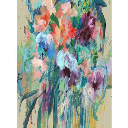 Brushstroke Bouquet Large Tray