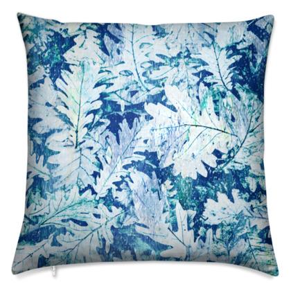 Forest Floor, Aquamarine - Cushions
