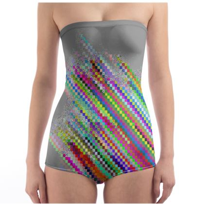 Glitch Aesthetic Swimsuit