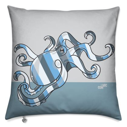 © COMMIC Ocean - Double header cushion featuring Blue Octopus/Bricky Walrus