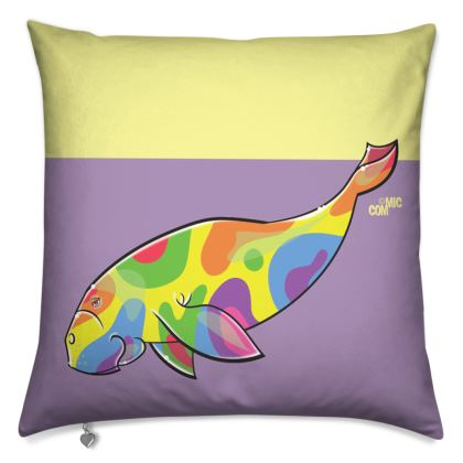 COMMIC Ocean - Double header cushion featuring Dugong/Turtle