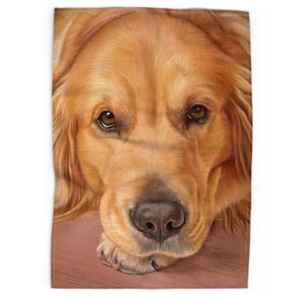 Golden Retriever Dog Tea Towel - Sweet as Honey