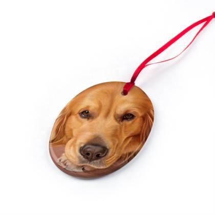 Golden Retriever Dog Christmas Ornaments - Sweet AsHoney