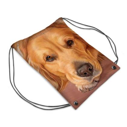 Golden Retriver Dog Drawstring PE Bag - Sweet As Honey
