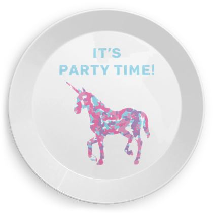 Unicorn Party Time party plates