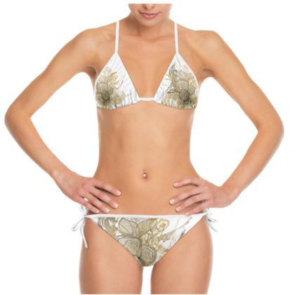 Bikini - 50 shade of lace white
