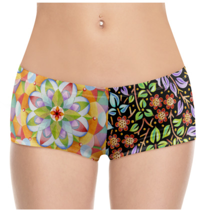 Big Top Floral Filgree Hot Pants
