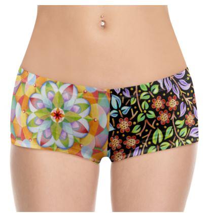 Big Top Floral Filgree Hot Pants