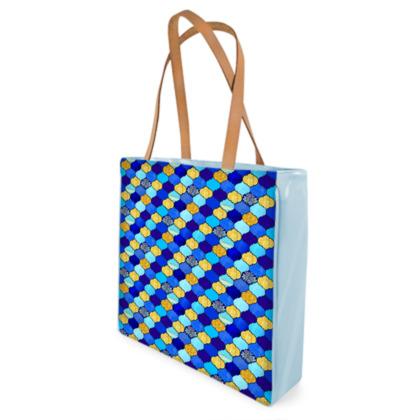 Boho Luxe Moroccan tile Shopper Bag