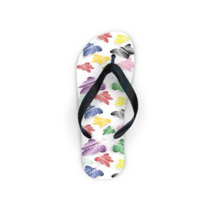 Butterfly Design Flip Flops