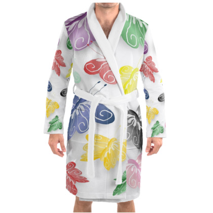 Butterfly Design Dressing Gown