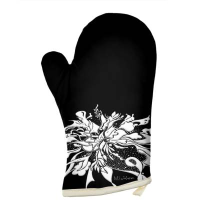 Oven Glove - Grytvante - White Ink black