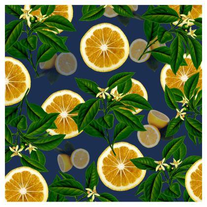 Zip Top Handbag - Lemons