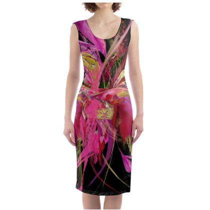 Bodycon dress - Fodralklänning - Pink flow black