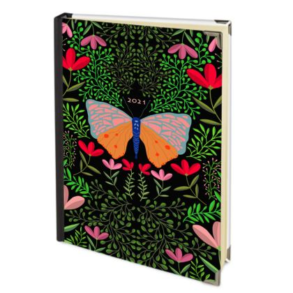 Butterfly in The Garden 01 - 2021 Deluxe Diary