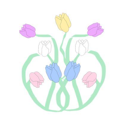 Cushion Art Nouveau Floral Design