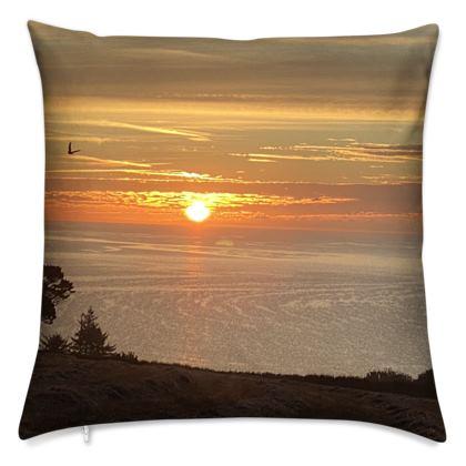Cushion - September Sunrise over Falmouth Bay