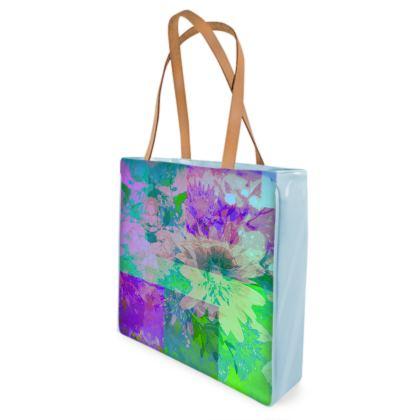 Lilac & Lime Beach Bag