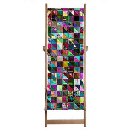 Glitch Pattern Deckchair
