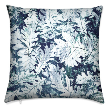 Forest Floor, Indigo - Cushions