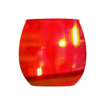 Collection Glass Tealight Holder  -  Red 1  -  Design 1    -   Collection 1