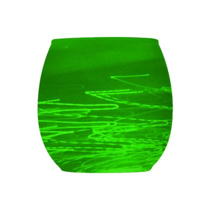 Collection Glass Tealight Holder  -  Green 1  -  Design 1   -   Collection 1