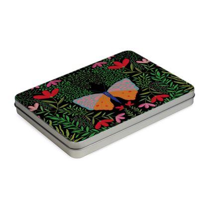 Butterfly in The Garden 01 Pencil Case Box