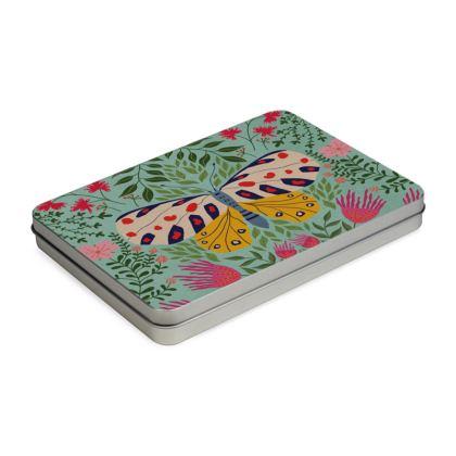 Butterfly in The Garden 02 Pencil Case Box