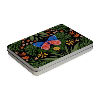 Butterfly in The Garden 03 Pencil Case Box