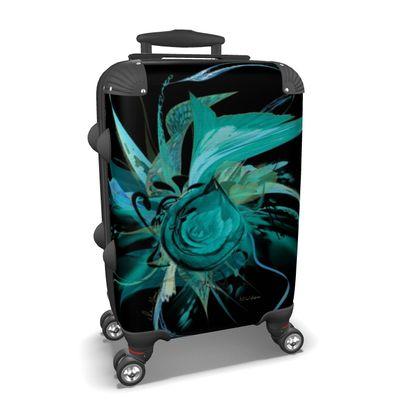 Suitcase (hand luggage) - Resväska  (handbagage) -Turquoise black