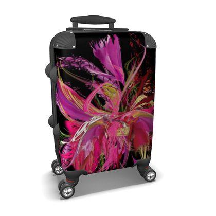 Suitcase (hand luggage) - Resväska  (handbagage) - Pink flow black
