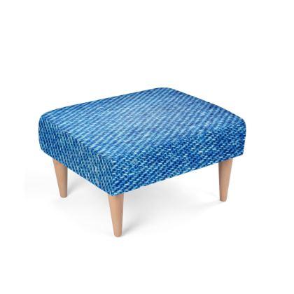 Denim Texture Footstool