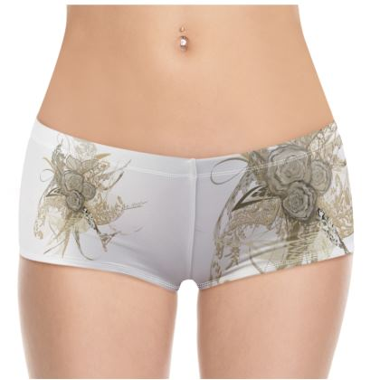 Hot Pants -50 shades of lace white