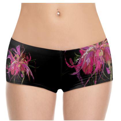 Hot Pants - Pink flow black
