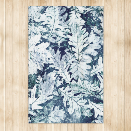 Forest Floor, Indigo - Large Rug