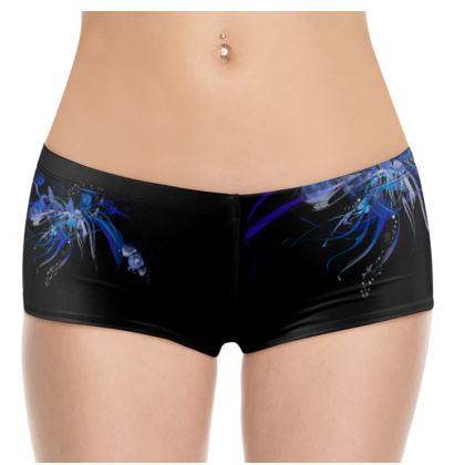 Hot Pants - Blue black