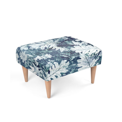 Forest Floor, Indigo - Footstool