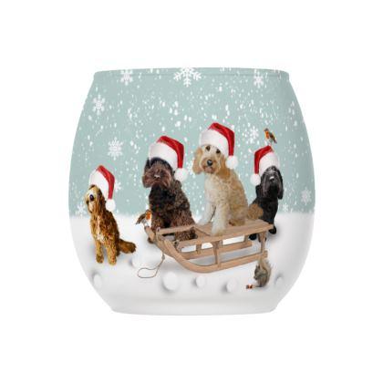 Beautiful Christmas glass tea light