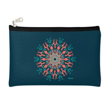 My ocean Mandala Mode, Zip Top Pouch