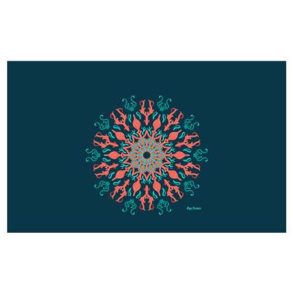 My ocean Mandala Mode, Zip Top Handbag