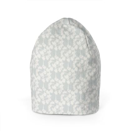 Autumnal Forest Pattern Silver Ivory Beanie