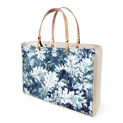 Forest Floor, Indigo - Leather Handbags