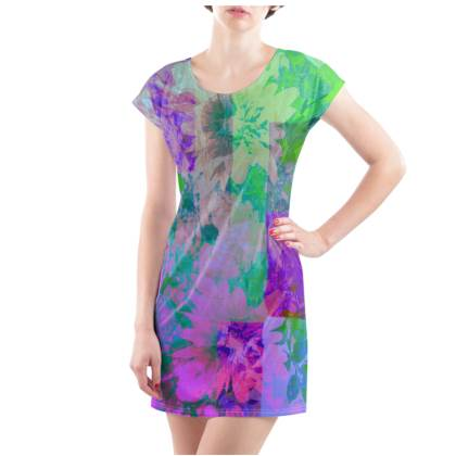 Lilac & Lime T-Shirt Dress - UK Size 10/12 (M)