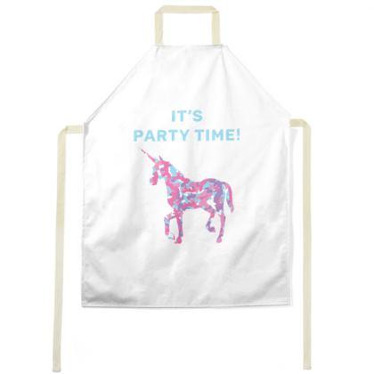 Unicorn Party Time Apron