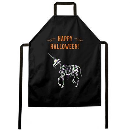 Undead Unicorn Happy Halloween Apron