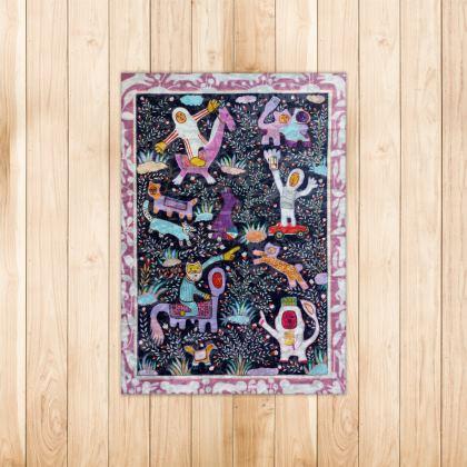 modern miniature rug