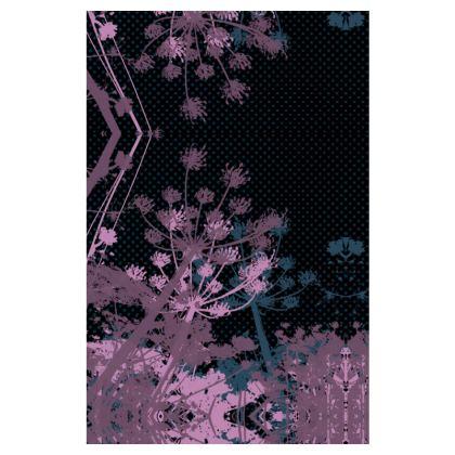 Slip Dress - Florals in Black