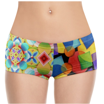 Candy Rainbow Celtic Hot Pants