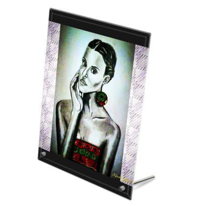 Silver Portrait Glass Print