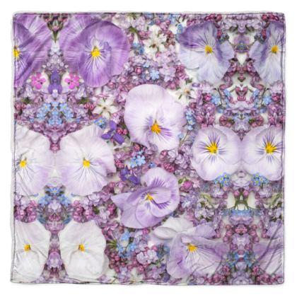 Throw in Purple Spring Flowers Design.